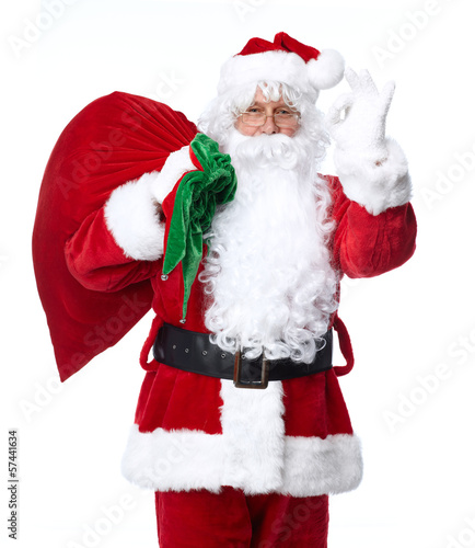 Santa Claus isolated on white.