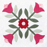 Patchwork Quilt pattern Flower