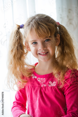 beautiful little girl posing