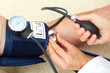 Blood pressure measuring.