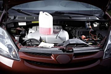 Auto engine.