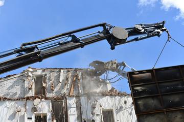 Demolizione di edificio urbano