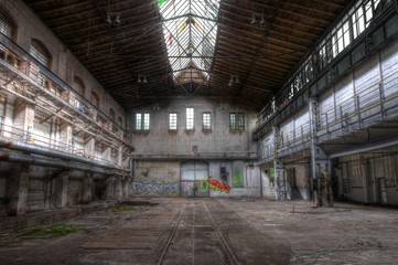 Old abandoned hall in east germany