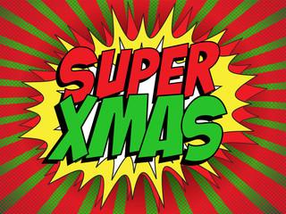 Merry Christmas Super Hero Background