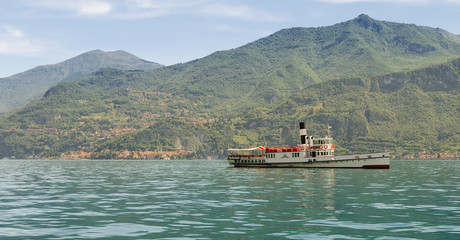 Old Steamboat on Lake Como, Italy