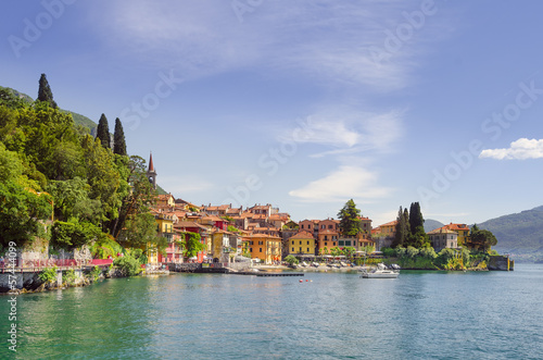 Varenna in afternoon sunlight, Lake Como, Italy