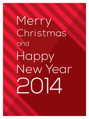 Modern graphic design Merry Christmas and Happy New Year 2014 wo