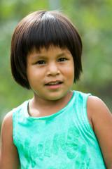 Cute native american girl.