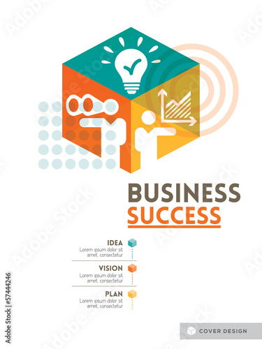 Cubic Business Success concept background design layout for post