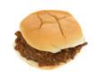 A thick pork in barbecue sauce bun sandwich