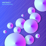 Abstract violet cones bright vector background