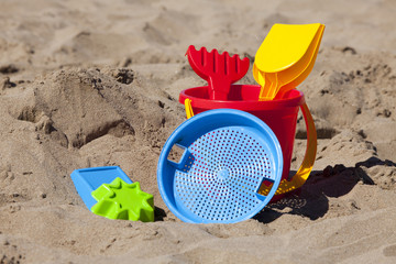 Nahaufnahme von Strandspielzeug