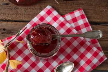pickled Plum in red wine