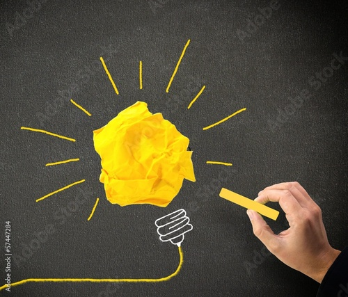 Idee Konzept Tafel