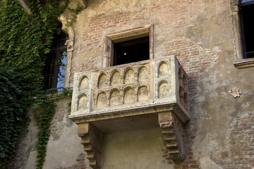 The balcony of Romeo and Juliet in Verona