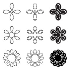 Collection of ornamental Celtic patterns