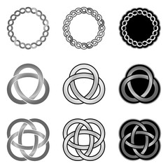 Collection of decorative Celtic patterns