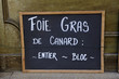 Adboard for foie gras