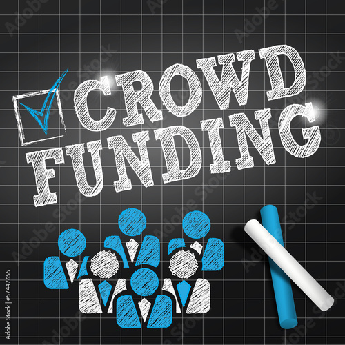 chalkboard draw : crowdfunding (square format) cs5