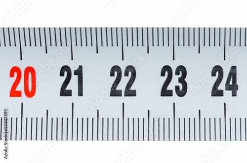 Detail of a tape measure isolated