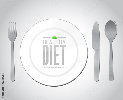 food healthy diet concept illustration design