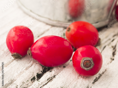 fresh and healthy rosehips