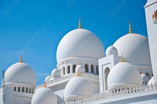 Fotobehang Dubai Abu Dhabi White Sheikh Zayed Mosque