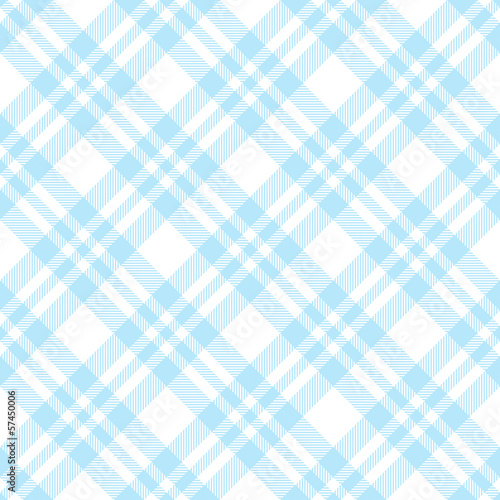 Plakat Karo Tischdecken Muster Hellblau - endlos