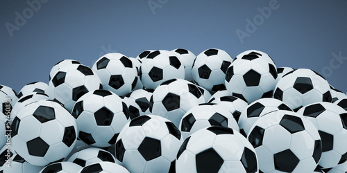 Group of soccer balls
