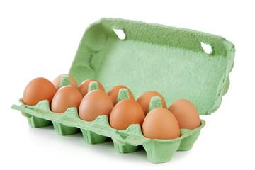Eggs isolated on white background