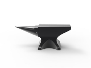 anvil black isolated