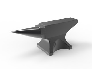 anvil black isolated top view