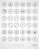 Vector thin icons set. Simple line icons. Ultra thin. Volume 4