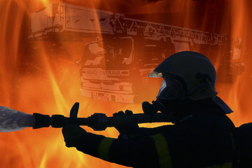 Fire destroys firefighter