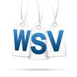 Drei Anhänger mit WSV weiß