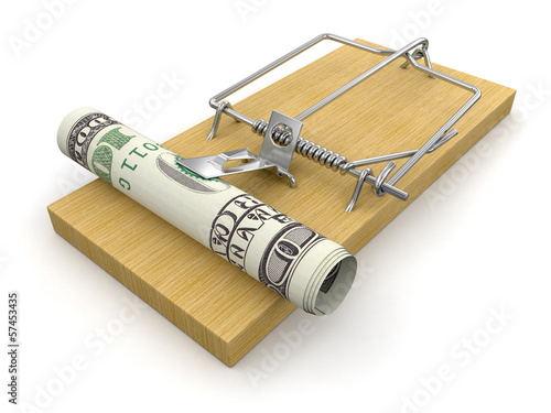Mousetrap and Dollar (clipping path included)
