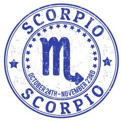 Scorpio zodiac grunge stamp