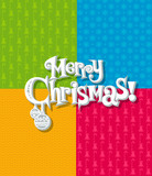 Seamless Christmas texture with typescript poster