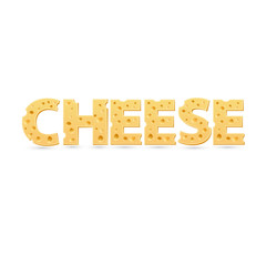Cheese word of cheese.