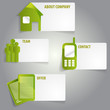 Vector abstract green infographic labels with a icons