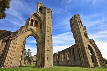 The historic ruins of Glastonbury Abbey