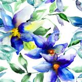 Seamless wallpaper with Summer flower