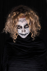 scary demonic sugar skull woman
