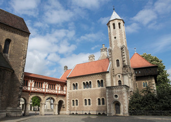 Famous old center of Braunschweig, Germany