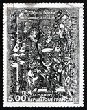 Postage stamp France 1991 Volte Faccia, by Francois Rouan poster