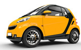 Fototapety Yellow Small Car - Close Up