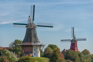 Holländermühlen in Greetsiel, Ostfriesland