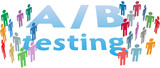 A B choice test marketing people