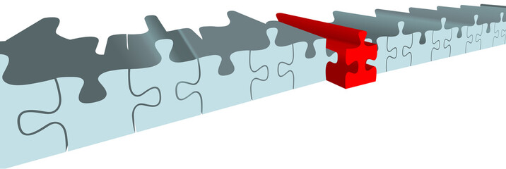 Puzzle piece choose best solution