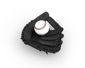 Black Baseball Glove Top View